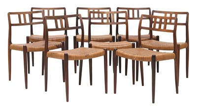Lot 557 - A set of eight rosewood 'Model 79' chairs, §