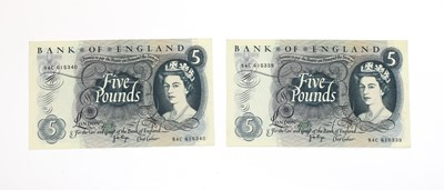 Lot 82 - Banknotes, Great Britain, Elizabeth II (1952-)