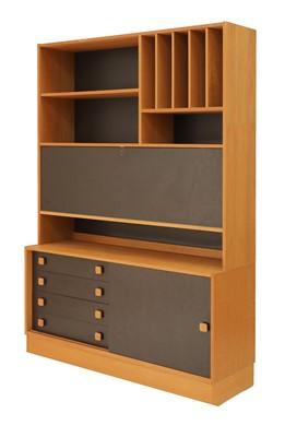 Lot 556 - A teak wall cabinet