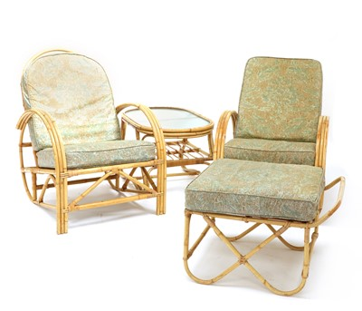 Lot 478 - An 'Invincible' wicker conservatory suite