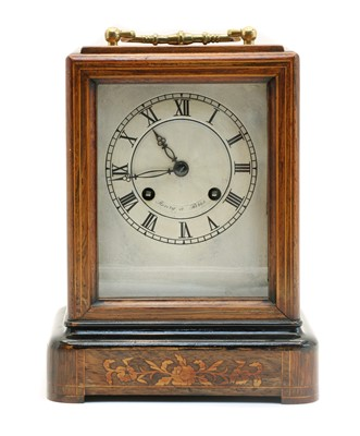 Lot 83 - A late 19th century French carriage clock