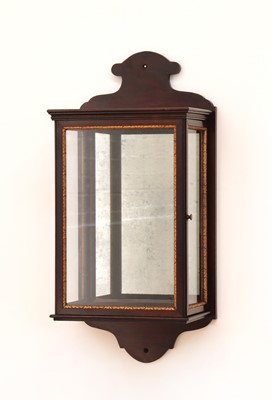Lot 381 - A George II-style mahogany and parcel-gilt wall lantern