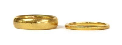 Lot 54 - Two 22ct gold wedding rings