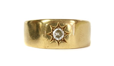 Lot 8 - An 18ct gold single stone diamond set signet ring, by Bravingtons