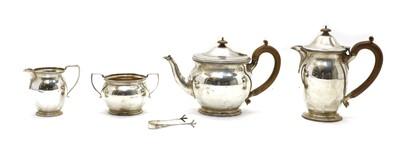 Lot 2 - A silver four piece tea service