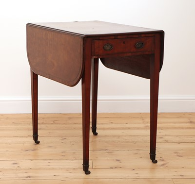 Lot 79 - A George III strung and crossbanded satinwood Pembroke table