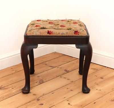 Lot 60 - A George III mahogany stool