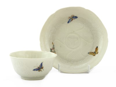 Lot 40 - A Chinese famille rose cup and saucer