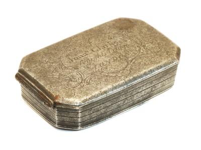 Lot 30A - A George II steel tobacco box