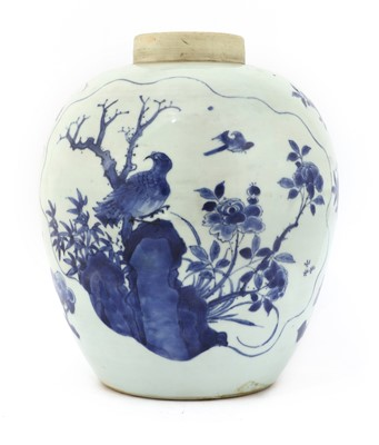Lot 30 - A Chinese blue and white jar