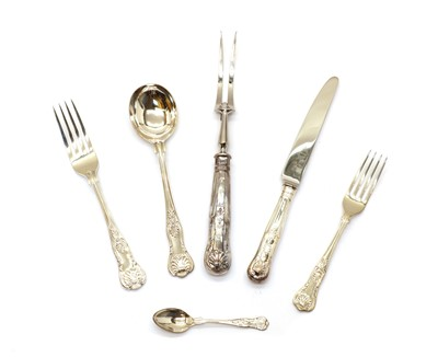 Lot 8 - A silver canteen of cutlery