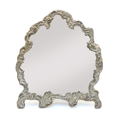 Lot 45 - A silver framed dressing table mirror