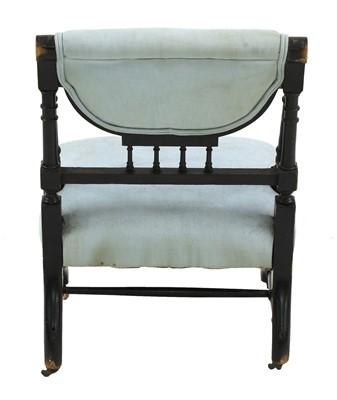 Lot 47 - An Aesthetic Movement ebonised side chair