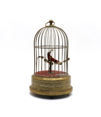 Lot 104 - An early 20th century singing birdcage automaton