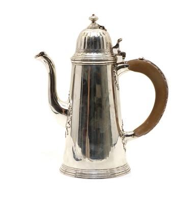 Lot 1 - A silver chocolate pot