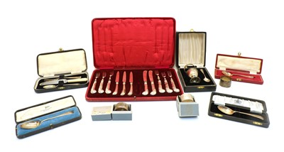 Lot 44 - A collection of silver flatware