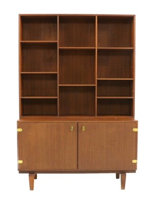 Lot 553 - A teak wall cabinet