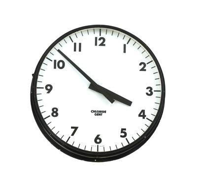 Lot 468 - A large illuminated Chloride Gent station clock
