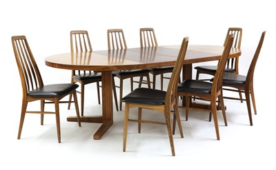 Lot 551 - A set of eight Danish 'Eva' rosewood dining chairs, §