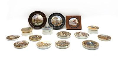 Lot 95 - A collection of pot lids