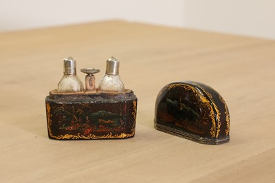 Lot 401 - A pair of miniature glass scent bottles