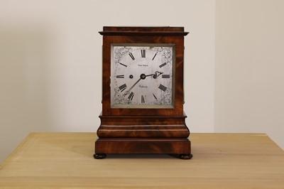 Lot 63 - A mahogany cased bracket clock