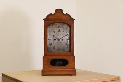 Lot 34 - A walnut cased bracket clock