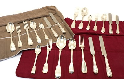 Lot 23 - A collection of silver Fiddle and Thread pattern cutlery