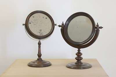 Lot 475 - A fruitwood convex shaving mirror