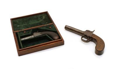 Lot 49 - A 19th century percussion pocket pistol
