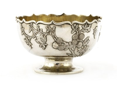 Lot 157 - A Chinese silver stem bowl