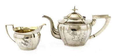 Lot 158 - A Chinese export silver teapot