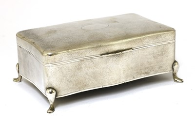 Lot 155 - A Chinese export silver box