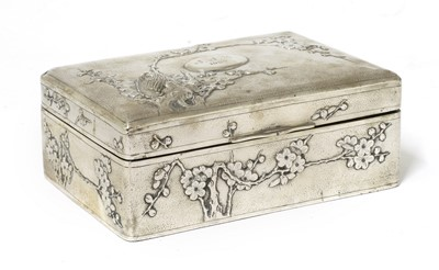 Lot 154 - A Chinese export silver cigarette box
