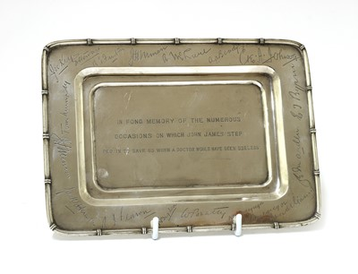 Lot 141 - A Chinese export silver salver