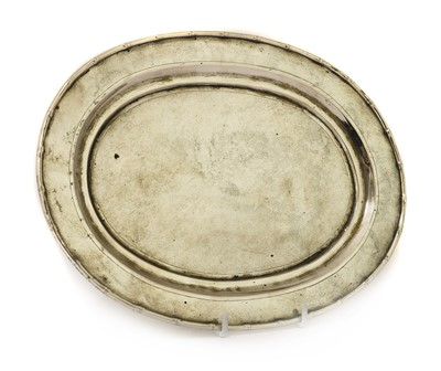 Lot 142 - A Chinese export silver salver