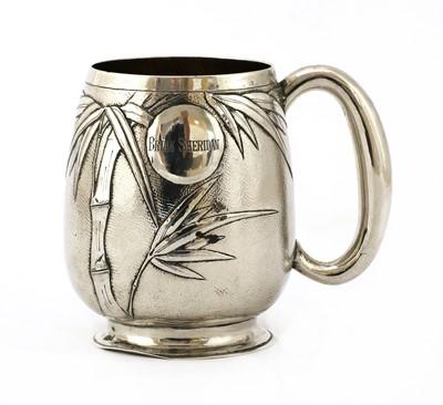 Lot 139 - A Chinese export silver mug