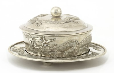 Lot 140 - A Chinese export silver preserve bowl and cover