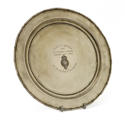 Lot 149 - A Chinese export silver salver