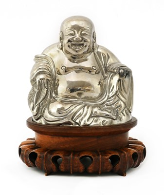 Lot 162 - A Chinese export silver model of Budai