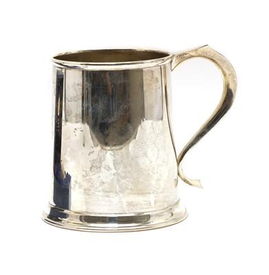 Lot 9 - A silver mug