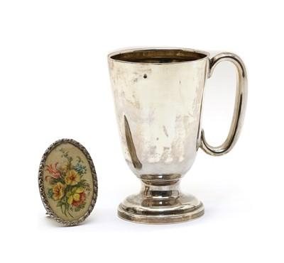Lot 12 - A christening mug