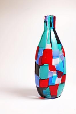 Lot 458 - A Venini 'Pezzato Arlecchino' vase
