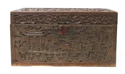 Lot 189 - A Chinese sandalwood box