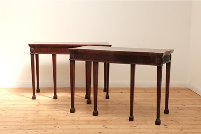 Lot 20 - A pair of mahogany console tables