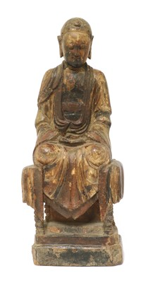 Lot 123 - A Chinese wood carving