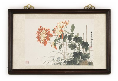 Lot 191 - A Chinese gouache painting
