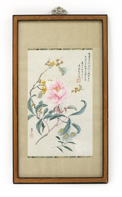 Lot 192 - A Chinese gouache painting