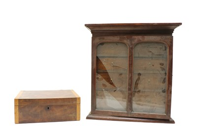 Lot 93 - An early 20th century oak table top collectors cabinet