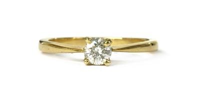 Lot 23 - A gold single stone diamond ring